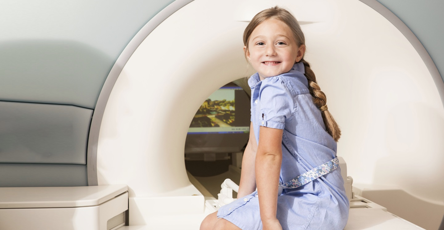 Young girl awaiting MRI at Children's