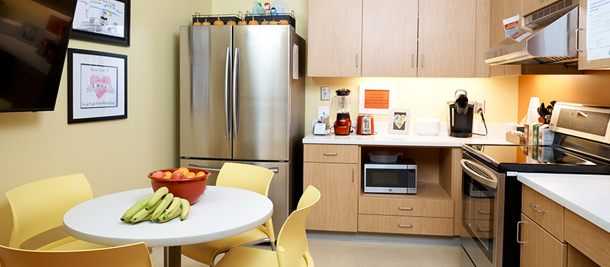 kitchen area in hospital
