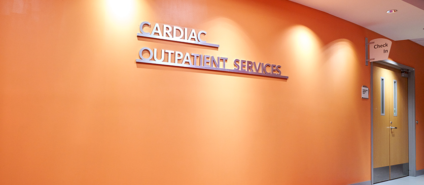 cardiac outpatient services floor in hospital