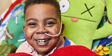 boy recovering from pediatric heart transplant