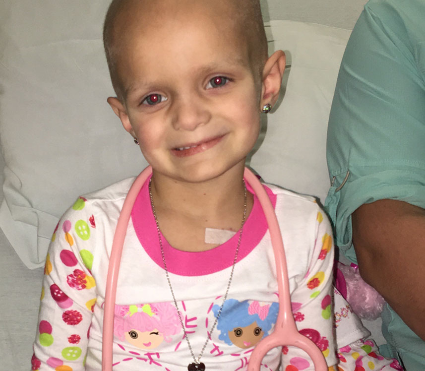 pediatric cancer patient smiling