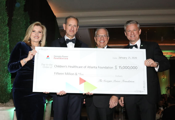 Georgia Power Foundation presents a check for 15 million to new pediatric hospital