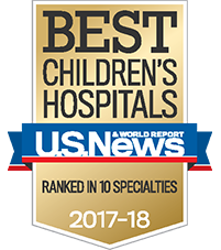 US News - Best Children's Hospital Badge