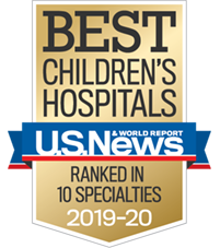 USNWR Badge Best children's hospitals